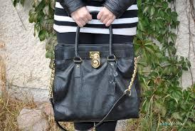 michael kors black tote bag silver hardware