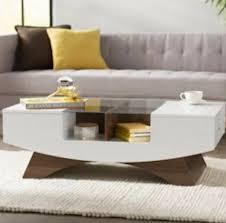 glass top coffee table white storage
