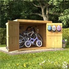 garden outdoor storage wood metal