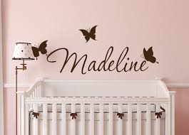 Butterfly Name Custom Wall Name Decals
