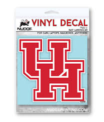 University Of Houston Uh Vinyl Car Decal Sticker Nudge Printing