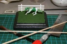 How To Make 1 64 Scale Model Horse Fencing Horse Fencing Scale Models Horses