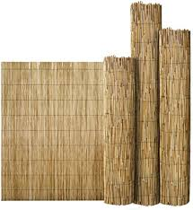 Flickbuyz Bamboo Natural Garden Peeled Reed Fence Screening Roll Privacy Border Wooden Wind Sun Protection L 4m X H 1 8m Amazon Co Uk Garden Outdoors
