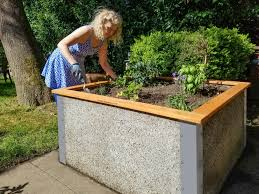 4 x4 x2 tall raised garden bed kit by