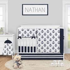 navy blue white anchors baby boy girl
