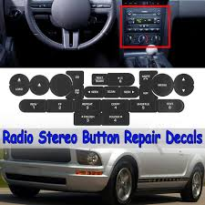 Replacement Front Radio Stereo Button Decals Sticker Repair For Ford Mustang Walmart Com Walmart Com