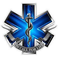 Amazon Com Customdecal Us Ems Logo Z2 Blue Flames Vinyl Decal Sticker Car Truck Laptop Netbook Window Automotive