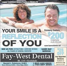 FRIDAY, JULY 17, 2020 Ad - Fay-West Dental - Observer-Reporter