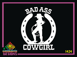 Bad Ass Cowgirl Vinyl Decal