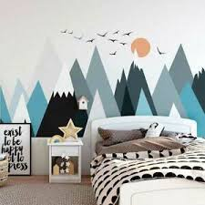 Mountain Wall Sticker Scandinavian Style Kids Decal Boys Nursery Decor Art Mural Ebay