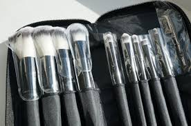 noir professional makeup brush set