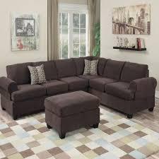 2 pcs sectional sofa coffee velvet