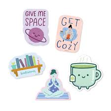 Introvert Sticker Pack 5 Vinyl Decal Stickers Free Period Press