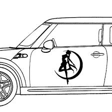 Vova Black White Sailor Moon Anime Vinyl Die Cut Decal Car Bumper Windows Sticker