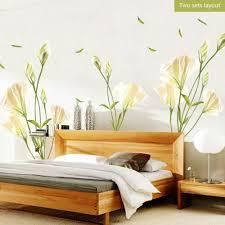 Home Garden Decor Decals Stickers Vinyl Art Lily Flower Art Love Vinyl Decal Wall Sticker For Bedroom Living Room Home Glass