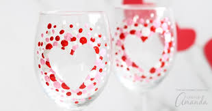 how to paint wine glasses diy