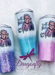 Leslie Jordan Inspired Well Shit What Are Y All Doin Glitter Tumbler In 2020 Drinkware Design Custom Tumblers Tumbler