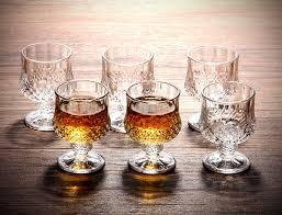 vodka 180ml colored whiskey glasses