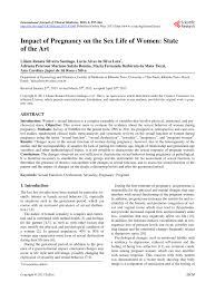 PDF) Impact of Pregnancy on the Sex Life of Women: State of the Art