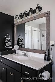 diy mirror frame bathroom