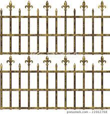 Cemetery Fence Texture Background Seamless Stock Illustration 22662768 Pixta