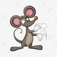 لطيف شخصية للرسوم المتحركة الماوس فأر الفأر كرتون Png وملف Psd