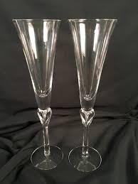 lenox crystal champagne flutes new