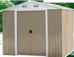 prefab outdoor metal storage shed