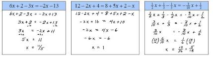 solve linear equations and inequalities