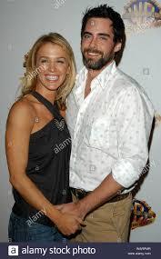 Poppy Montgomery and Boyfriend Adam Kaufman at the Warner Bros ...