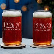 wedding favor beer can glass