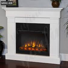 modern white marble fireplace mantel