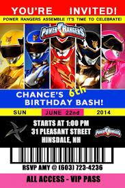 Power Rangers Birthday Invitation Con Imagenes Invitaciones