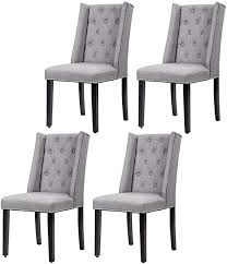 Amazon Com Dining Chairs Dining Room Chairs Kitchen Chairs For Living Room Side Chair For Restaurant Home Kitchen Living Room Set Of 4 Gray Chairs