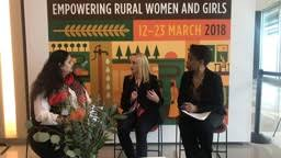 United Nations Commission on the Status of Women (CSW) - #CSW62   IFAD  Vice-President Cornelia Richter, and IFAD Gender Technical Lead Ndaya  Beltchika.   Facebook