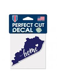 Kentucky 4x5 Inch State Shape Auto Decal Blue 5716421