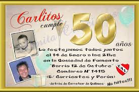 Tarjeta Invitacion 50 Anos Quotes Links