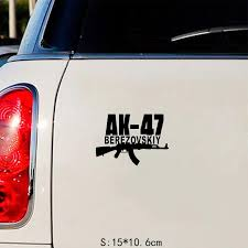 Nakleyki Car Stickers Decals Ak 47 Vinyl Decals Fashion Creative Cars Full Body Head Styling Sticker Buy At A Low Prices On Joom E Commerce Platform