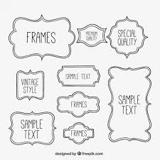 sketchy frames collection free vector