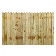 Round Top Closed Board Pressure Treated Fence Panel 6ft X 4ft