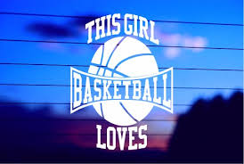 This Girl Loves Basketball Car Decal Sticker