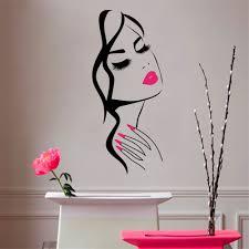 beauty salon hair eyelashes and lips