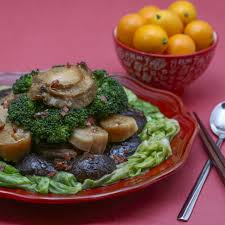 Chinese braised abalone with mushrooms ...