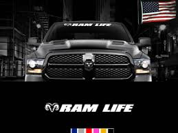 Ram Life Front Windshield Window Banner Decal Sticker Dodge Golf Cart Decal Graphic Kit Lowgif