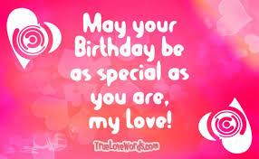 sweet birthday wishes for girlfriend true love words