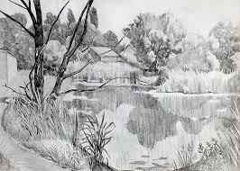 """Картинки по запросу """"природа рисунок карандашом"""""""