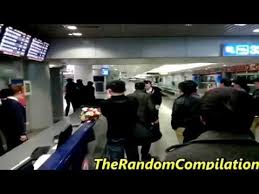 People Fighting at Airport