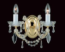 impex marie theresa glass arm 2 light