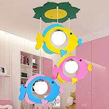 Ceiling Lights Children Bedroom Light Chandelier Craftthink Colorful Fish Multi Light Pendant Ceiling Lamps For Boy Kids Nursery Bedroom 3 Light Amazon Com