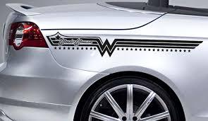 Buy 2x Diana Prince Star Woman Stripes Superhero Justice Comic Girl Car Vinyl Sticker Decal